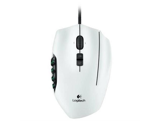 Logitech 910-002871 G600 MMO White 20 Buttons Tilt Wheel USB Wired Laser 8200 dpi Mouse
