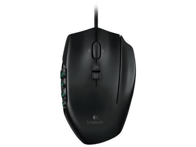 Logitech G600 910-002864 Black 20 Buttons Tilt Wheel USB Wired Laser MMO Gaming Mouse