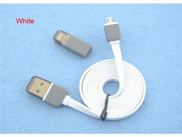 Micro USB Cable & Lightning Adapter for iPhone 6 plus 5/5s iPad iPod Samsung etc..