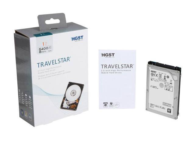 HGST Travelstar 2.5-Inch 1 TB 5400RPM SATA 6Gb/s 8MB Cache Internal Hard Drive Kit 0S03508