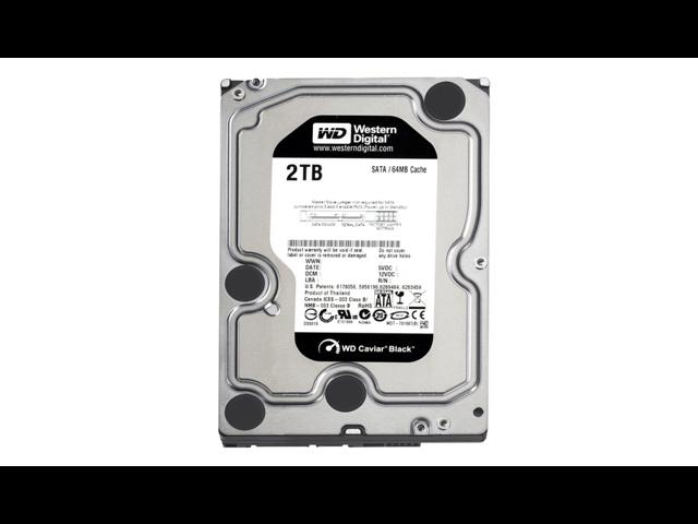 Western Digital WD2001FASS 2 TB Caviar Black SATA 3 GB/s 7200 RPM 64 MB Cache Bulk/OEM Desktop Hard Drive