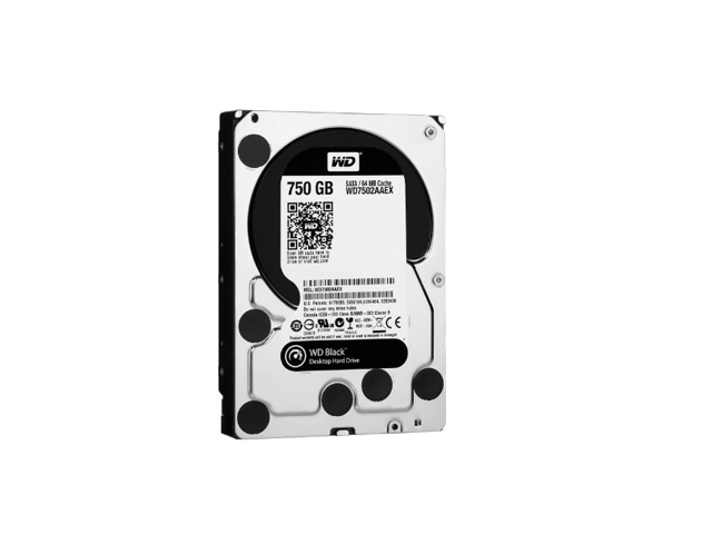 Western Digital Caviar Black 750 GB SATA III 7200 RPM 64 MB Bulk/OEM Internal Desktop Hard Drive - WD7502AAEX