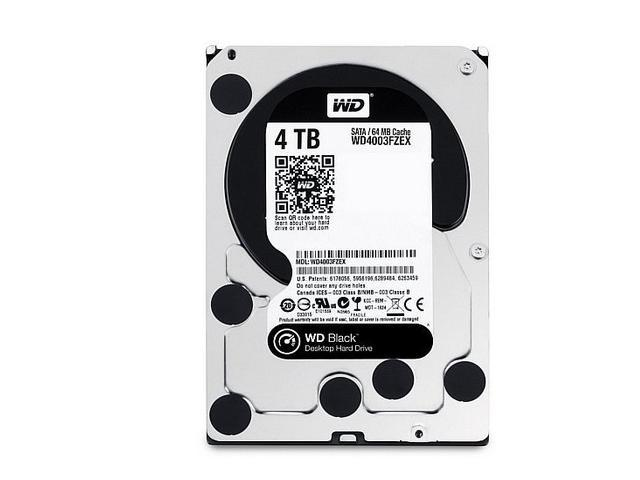 WD Black 4TB Performance Desktop Hard Drive: 3.5-inch, SATA 6 Gb/s, 7200 RPM, 64MB Cache WD4003FZEX