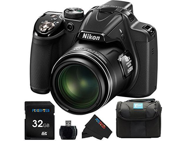 Nikon COOLPIX P530 16.1 MP CMOS Digital Camera with 42x Zoom NIKKOR Lens and Full HD 1080p Video (Black) + 32GB Pixi-Basic Accessory Bundle
