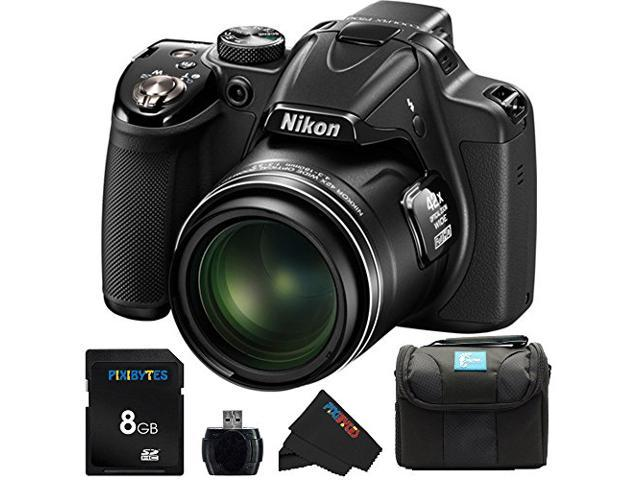 Nikon COOLPIX P530 16.1 MP CMOS Digital Camera with 42x Zoom NIKKOR Lens and Full HD 1080p Video (Black) + 8GB Pixi-Basic Accessory Bundle