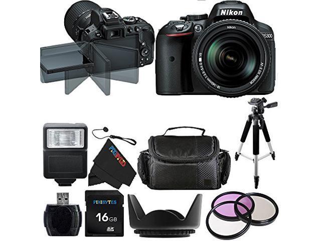 Nikon D5300 24.2 MP Digital SLR Camera with 18-140mm f/3.5-5.6G ED VR AF-S DX NIKKOR Lens + Pixi-Basic Accessory Bundle