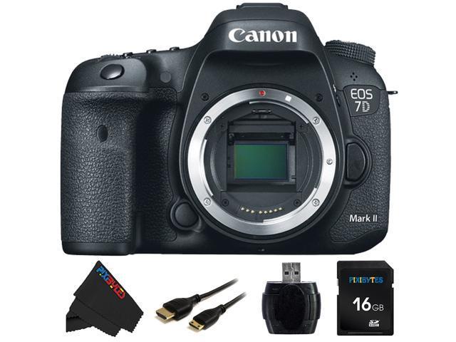 Canon EOS 7D Mark II DSLR Camera (Body) & 16GB Pixi-Basic Accessory Kit