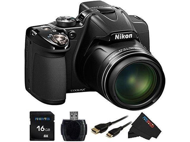 Nikon COOLPIX P530 16.1 MP CMOS Digital Camera with 42x Zoom NIKKOR Lens and Full HD 1080p Video (Black) + 16GB Pixi-Basic Accessory Bundle
