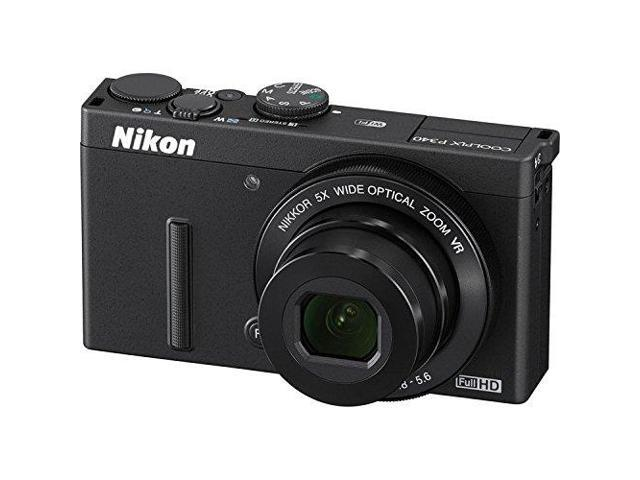 Nikon COOLPIX P340 12.2 MP Wi-Fi CMOS Digital Camera with 5x Zoom NIKKOR Lens and Full HD 1080p Video (Black) + Pixi-Basic 32GB I3ePro Accessory ...