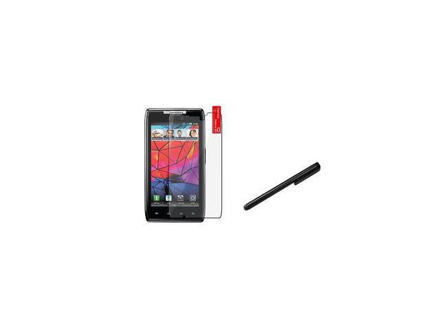 FOR MOTOROLA Droid Razr XT912 LCD SCREEN PROTECTOR GUARD Accessory+Black Stylus