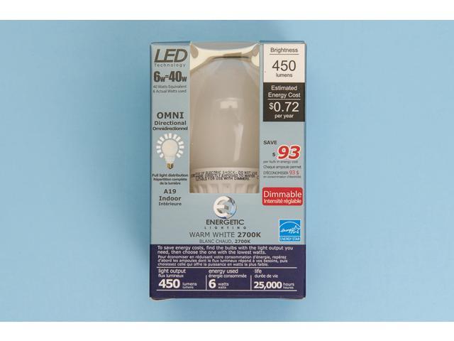 Energetic Lighting, A19 OMNI, 40W Equivalent, LED Light Bulb