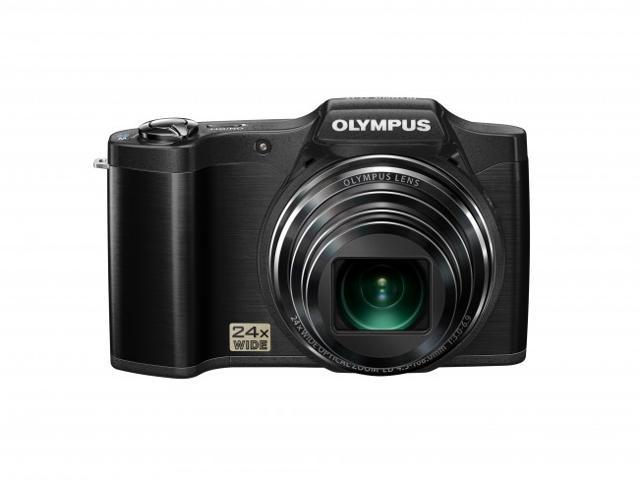 OLYMPUS SZ-12 14MP Digital Camera with 24x Wide-Angle Zoom (Black) - Refurbished