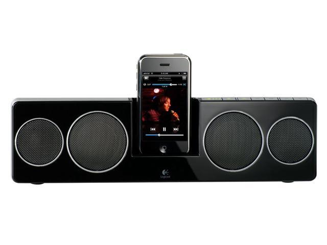 LOGITECH 984000057 Pure-Fi Anywhere 2 Compact Docking Speakers for iPod and iPhone (Black) - Refurbished