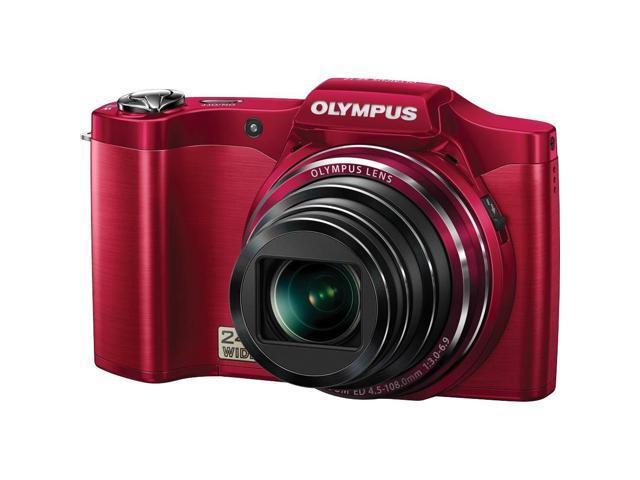 Olympus Stylus SZ-14 Digital Camera with 24x Optical Zoom (Red) - Refurbished