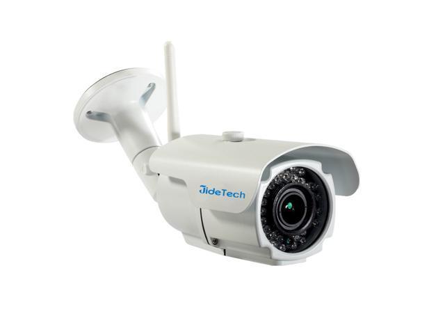 JideTech 720P 1 MegaPixel 2.8-12MM Varifocal Lens IR 30M Waterproof Wireless IP Camera