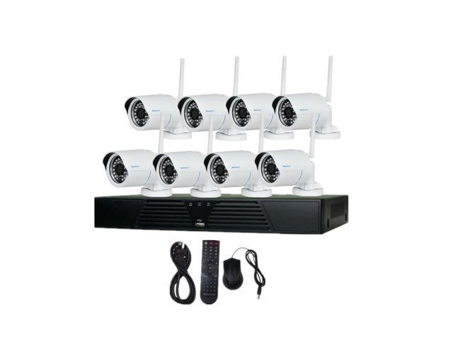 JideTech 8CH NVR 720P HD Wireless Night Vision IP Surveillance Camera Kit CCTV Security Camera System