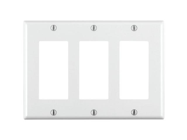 Ge 40080 Triple Rocker Plastic Wall Plate, White
