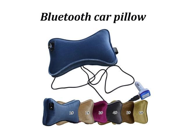 Multi Color Bluetooth Calling Carkit Car Seat Neck Pillow with NFC Function Car Bluetooth Pillow Speaker