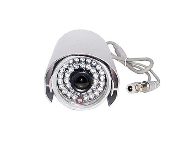 All Metal Surveillance Camera with Sharp 1/4 Inch CCD Color Lens and 36 Night Vision Infrared LED