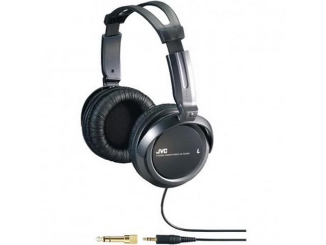 JVC HARX300 Full-Size Headphones Large 40mm Driver Unit Black