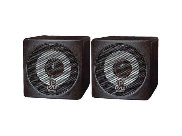 """Pyle Home PCB3BK 3"""" 100W Mini-Cube Bookshelf Speakers Black Pair 8O Imp"""