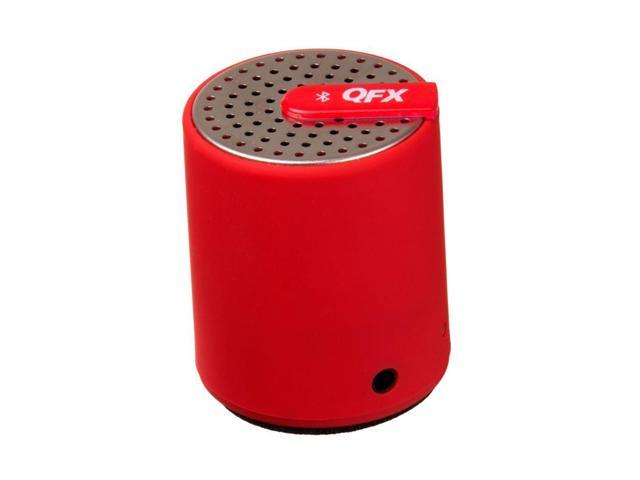 Red Portable Bluetooth Speaker Rechargeable +3.5mm Aux-in by QFX CS-27BT