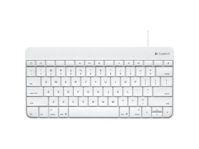 Logitech 920-006340 Wired iPad Keyboard - 30-Pin Docking Port - White