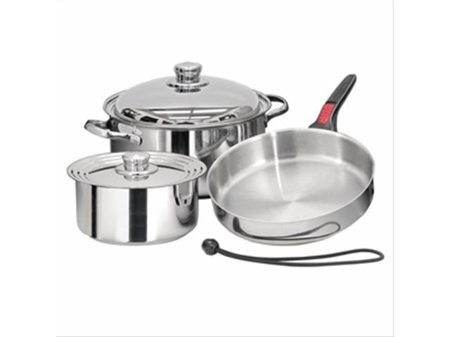 Magma Nestable 7 Pc Stainless Steel Gourme Starter Cookware Set