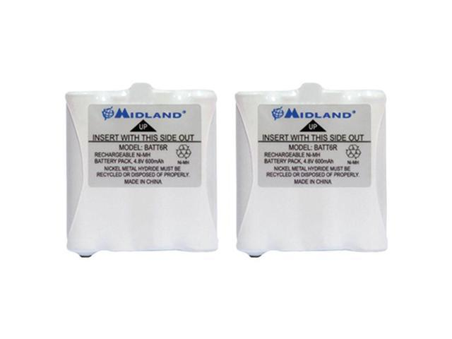 Midland AVP8 2-Pack of GMRS Batteries for 200 & 300 Series 2-Way Radios