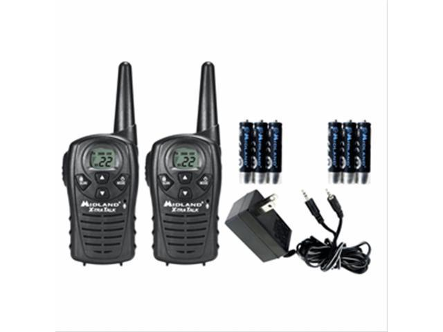 Midland LXT118VP 22 Ch Waterproof GMRS Radios W/Rechargeable Batteries