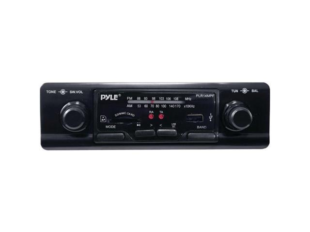 Pyle PLR14MPF 1DIN In-Dash Car AM/FM Radio W/ USB/SD Card Inputs