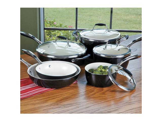 Tramontina Gourmet Ceramica-01 Deluxe Cookware Set, 10 Piece
