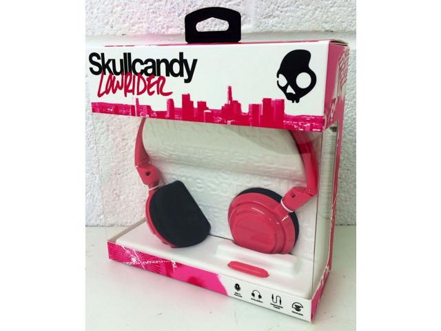 Skullcandy Lowrider with Mic Stereo Wired Headphone - Pink - NEW