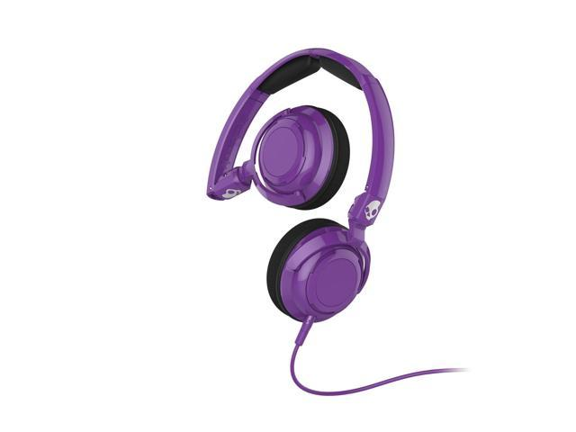 Skullcandy Lowrider with Mic Stereo Wired Headphone - Athletic Purple - NEW