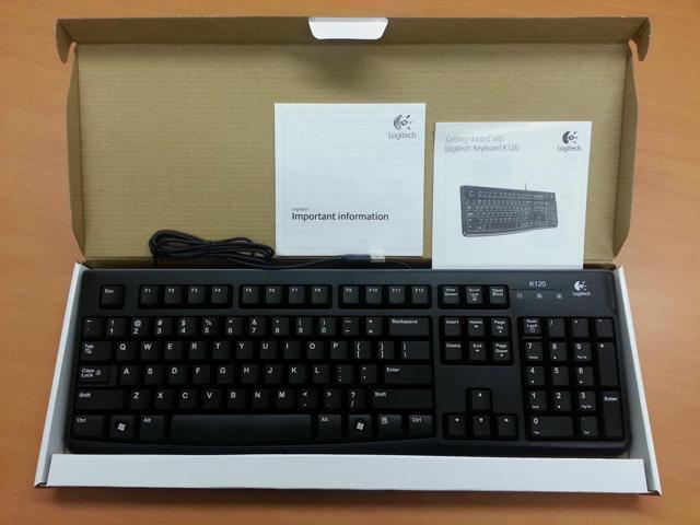 Logitech K120 Black USB Wired Standard Keyboard