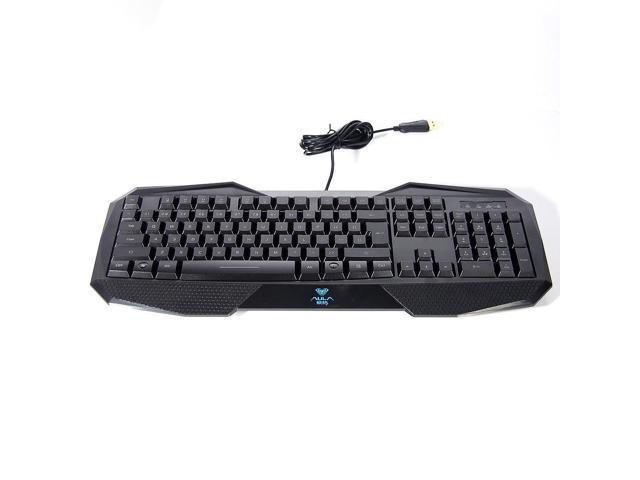 LED Lighting Wired USB Laptop Multimedia Pro Gamer Gaming Keyboard