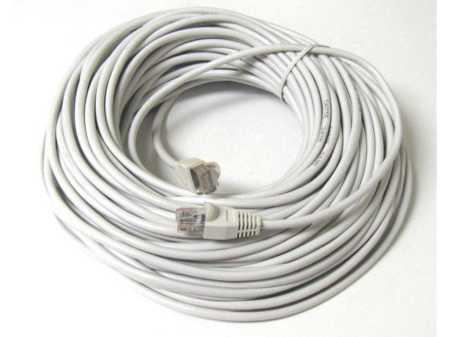 50FT 50 FT RJ45 CAT5 CAT 5 HIGH SPEED ETHERNET LAN NETWORK WHITE PATCH CABLE