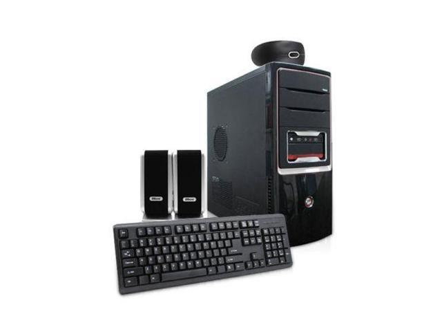 iMicro CA-1803USB 400W ATX Mid Tower Case w/ Keyboard/ Mouse/ Speakers (Black)