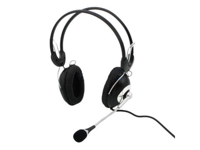 KOMC KM2014 Multimedia Stereo Headphone Headset Black for Laptop Desktop PC