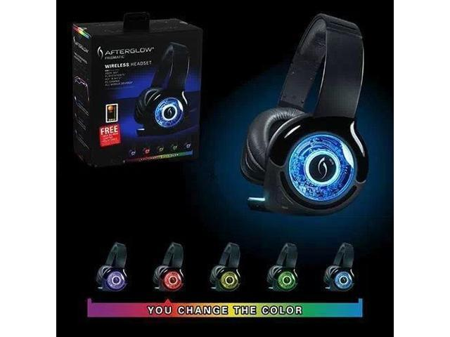 PDP Afterglow Prismatic Wireless Headset Headset for PS3 XBOX360, Wii U, PC, New
