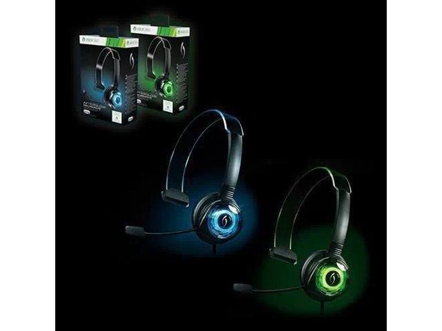 Xbox 360 Wired Afterglow Mono-Chat Headset Communicator for Xbox 360 Green
