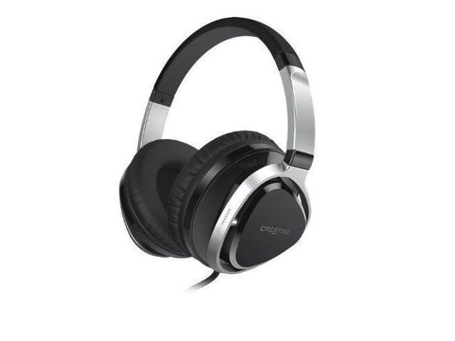 Creative Aurvana Live! 2 Headset 40mm Drivers & In-Line Mic Black Headphones NEW