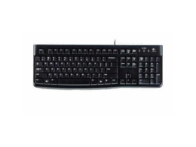 New Logitech K120 USB Wired Keyboard for Business Black