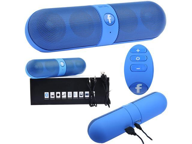 Pill Portable Shockproof Wireless Bluetooth Stereo Speaker For iPhone PC Samsung(Blue)