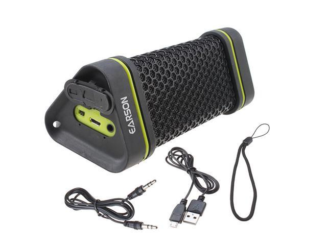 EARSON Outdoor Waterproof Shockproof Wireless Bluetooth Speaker For iPod iPhone iPad Mp3 Mp4 Samsung Smartphone Computer(Black)