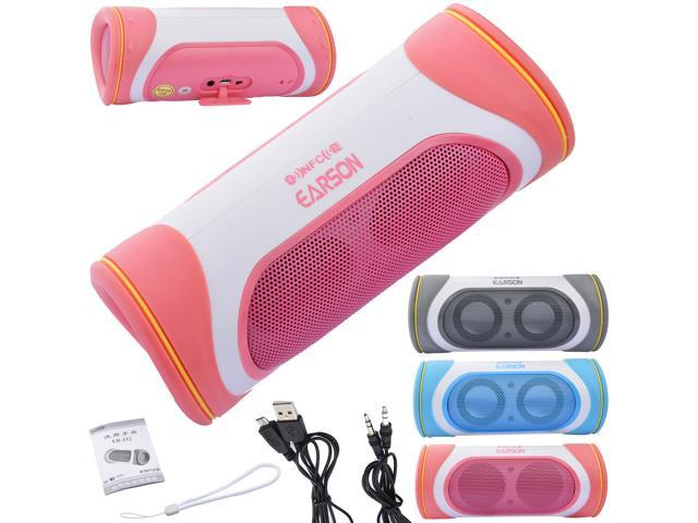 EARSON Pillow Shockproof Wireless Bluetooth Stereo Speaker For iPhone iPod iPad PC Samsung HTC LG(Pink)