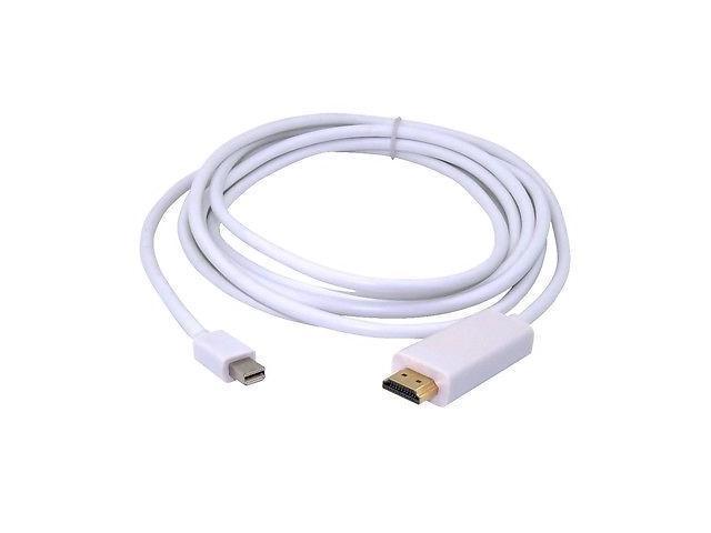 3M 10FT Thunderbolt Mini DisplayPort to HDMI AV HDTV Cable For Apple iMac Macbook White