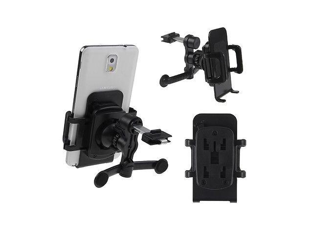 Rotating Car Air Vent Holder Mount For iPhone 6 6Plus 5 5s 4 4s Samsung Galaxy S4 S3 Note 2 4 Edge Black Color