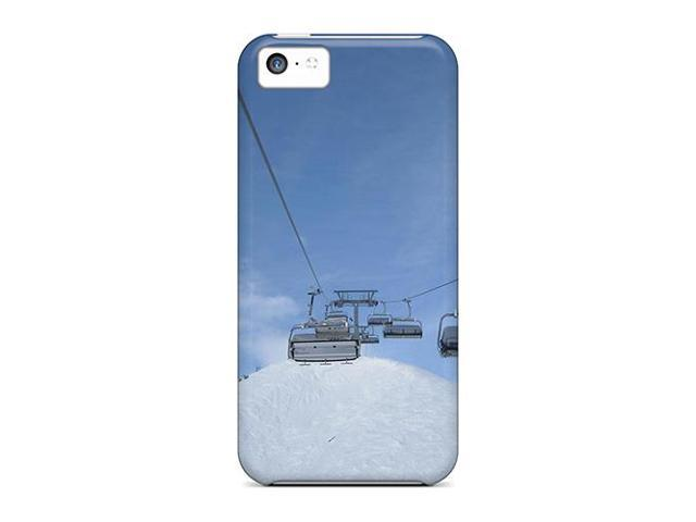 High Impact Dirt/shock Proof Case Cover For Iphone 5c (ski Lift Snow)