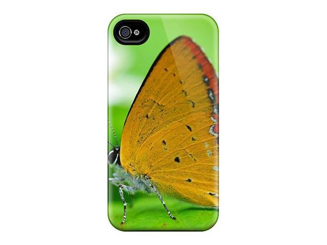 Case Cover Protector Specially Made For Iphone 4/4s Butterfly Yellow Hd Wide